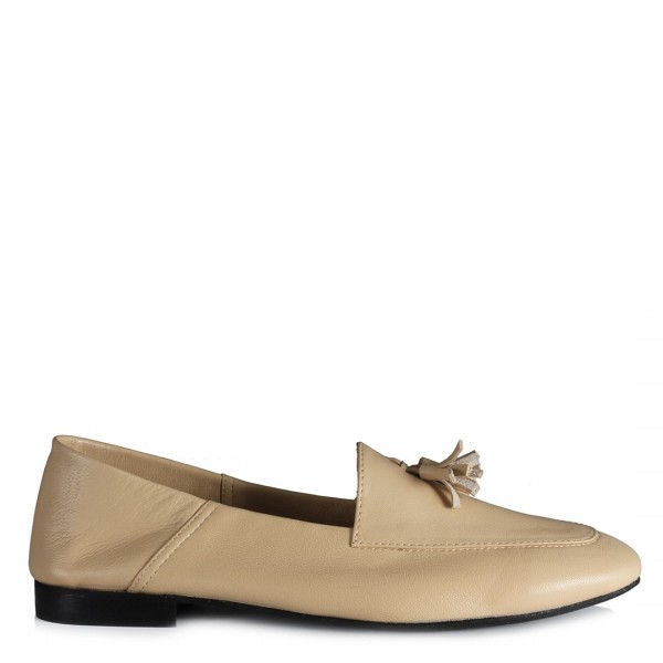Loafer Ayakkabı Leblebi Rengi Hakiki Deri