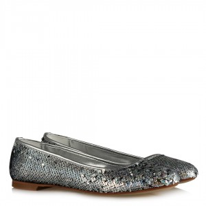 Lame Babet Ayakkabı  Pullu