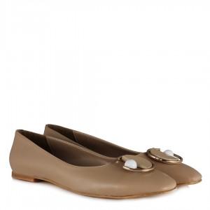 Tokalı Babet Ayakkabı Nude Rengi