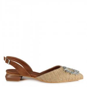 Hasır Babet Ayakkabı Taşlı