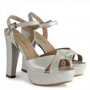 Nikah Ayakkabısı Kırık Beyaz Topuklu