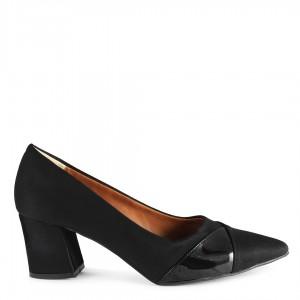 Siyah Süet Topuklu Ayakkabı Stiletto
