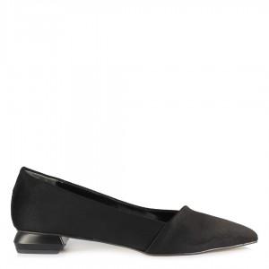 Babet Ayakkabı Siyah Süet Sivri