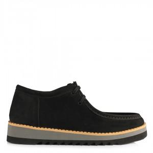 Hakiki Deri Nubuk Siyah Ayakkabı