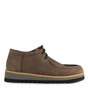 Vizon Hakiki Deri Nubuk Ayakkabı