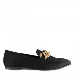 Siyah Zincirli Babet Loafer