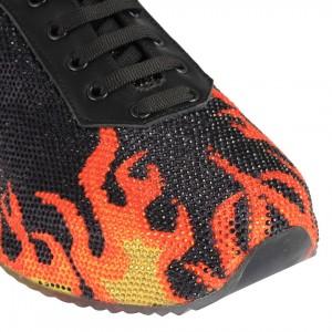 Sneakers Spor Ayakkabı Siyah Alev