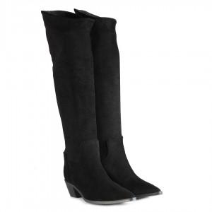 Siyah Kovboy Çizme Uzun