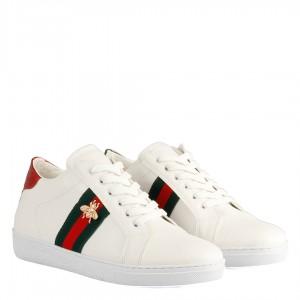 Sneakers Spor Ayakkabı Beyaz Arı Tokalı