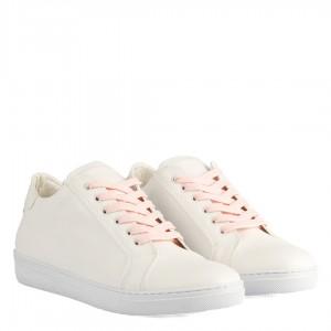 Sneakers Spor Ayakkabı Beyaz Bağcıklı