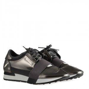 Spor Ayakkabı Bağcıklı Rahat Taban Füme Ayna