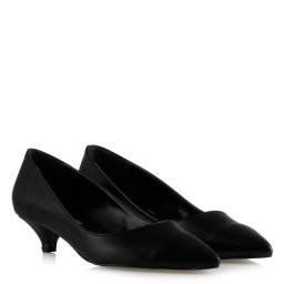 Черные Матовые Туфли На Маленьком Каблуке