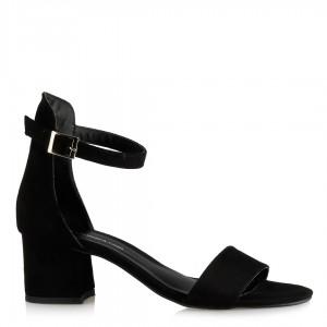 Az Topuklu Ayakkabı Siyah Süet