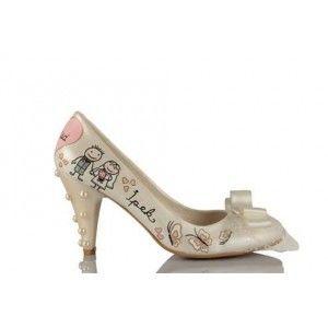 Çiftler Tasarımı Gelinlik Ayakkabısı