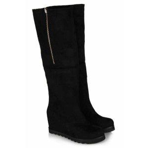 Kadın Çizme Siyah Dolgu Topuk Model