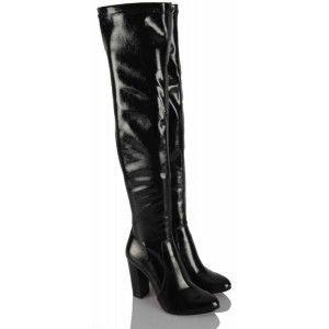 Siyah Rugan Dizüstü Streç Çizme