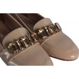Babet Ayakkabı Ten Rugan Taşlı Tokalı