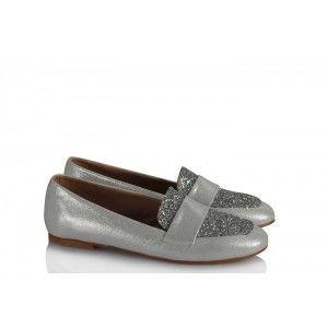 Babet Ayakkabı Düz Model Lame Simli