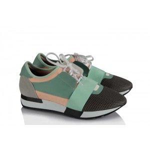 Spor Ayakkabı Su Yeşili Bağcıklı Rahat Taban