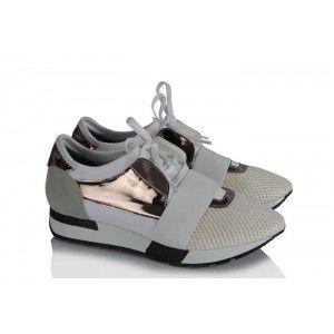 Spor Ayakkabı Beyaz Bağcıklı Rahat Taban