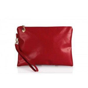 Clutch Çanta Modelleri Mat Kırmızı