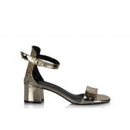 Sandalet Az Topuklu Dore Ayna Tek Bantlı