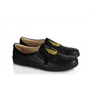 Vans Ayakkabı Siyah Armalı