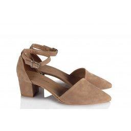 Az Topuklu Stiletto Ayakkabı Vizon Süet