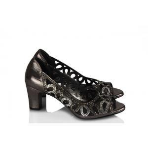 Ayakkabı Taşlı Şık Kafes Model