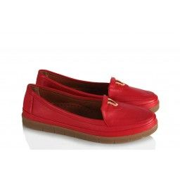 Hakiki Deri Kırmızı Ayakkabı