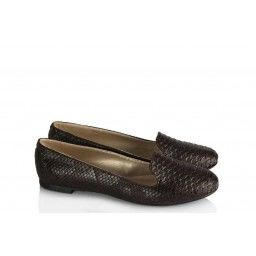 Babet Ayakkabı Kahverengi Crocodile Dilli