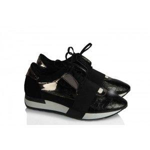 Spor Ayakkabı Siyah Bağcıklı
