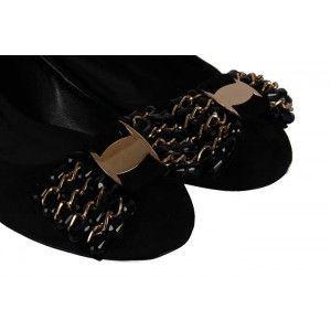 Babet Siyah Süet Tokalı Modeller