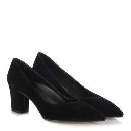 Stiletto Ayakkabı Siyah Süet