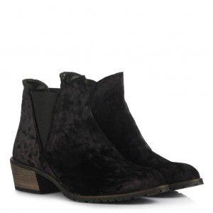 Topuklu Bot Siyah Kadife