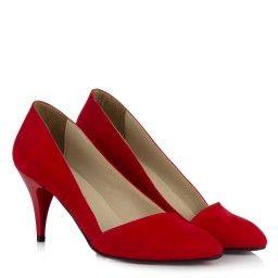 Stiletto Kırmızı Süet Çapraz