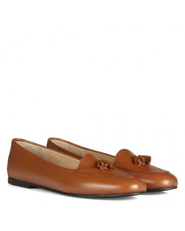 Taba Hakiki Deri Leofer Babet Ayakkabı