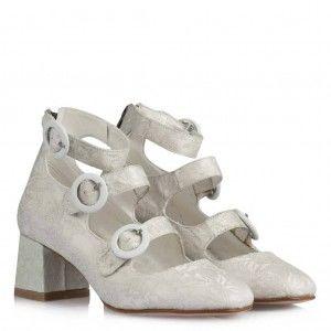 Nikah Ayakkabısı Az Topuklu Bantlı Model