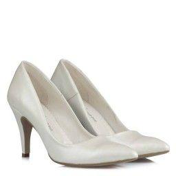 Gelin Ayakkabısı Kırık Beyaz Stiletto