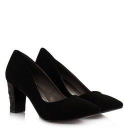 Stiletto Siyah Tasarım Topuklu