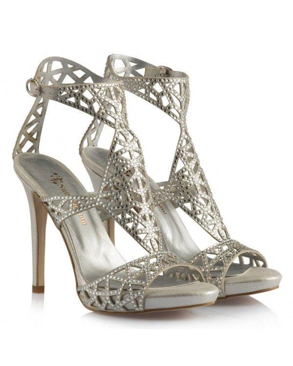 Lame Taşlı Şık Model Abiye Ayakkabı