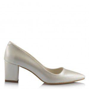 Nikah Ayakkabısı Kalın Az Topuklu Model