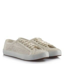 Gelin Ayakkabısı Vans Kırık Beyaz Dantel