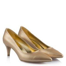 Mat Dore Kısa Topuklu Bayan Ayakkabı