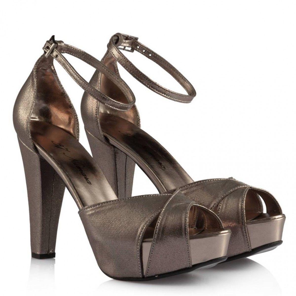 Füme Yaldızlı Platform Ayakkabı