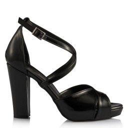 Topuklu Ayakkabı Siyah Rugan