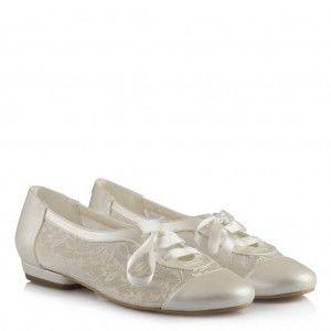 Gelin Ayakkabısı Dantelli Kibar Model