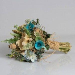 Mavi Gala Naturel Haşhaş Gelin Çiçeği