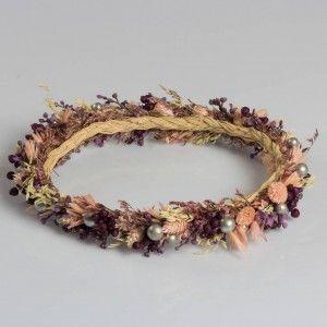 Lila Kuru Çiçek Tasarım Taç