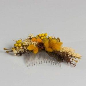 Sarı Kuruçiçek Arajman Saç Tokası